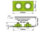 Podhledový rámeček D10-2 hliník