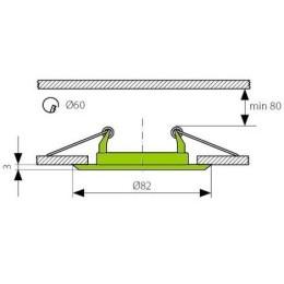 Podhledový rámeček R50-BR/M matná mosaz