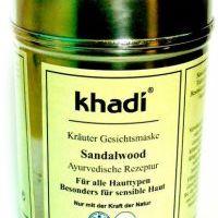 Khadi pleťová bylinná maska SANTALOVÉ DŘEVO na všechny typy, i citlivou (50 g)