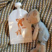 Domky Plnitelná kapsička na jídlo - Žirafa 140 ml