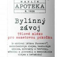 Havlíkova přírodní apotéka Bylinný závoj, tělové mléko pro sametovou pokožku (200 ml)