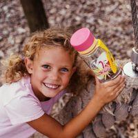 Equa Dětská plastová lahev na pití Flamingo