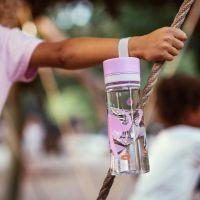 EQUA Dětská plastová lahev na pití Elephant bez BPA