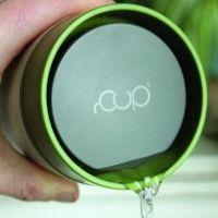 Circular Cup / rCUP kelímek - krémová/zelená