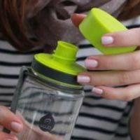 EQUA Plastová lahev Plain Iris bez BPA 600 ml