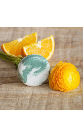 Ponio Pomeranč a eukalyptus, kopřivový tuhý šampon