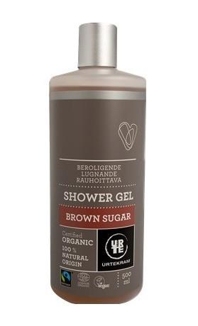 Urtekram Zklidňující sprchový gel s hnědým cukrem BIO