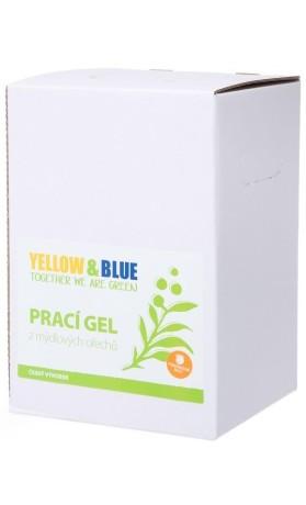 Yellow&Blue Prací gel z mýdlových ořechů s pomerančovou silicí, bag-in-box