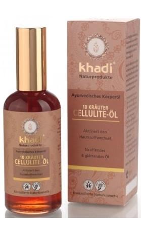 Khadi tělový olej z 10 AJURVÉDSKÝCH BYLIN - proti celulitidě