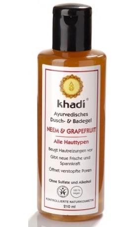 Khadi sprchový gel NEEM & GRAPEFRUIT pro všechny typy pleti