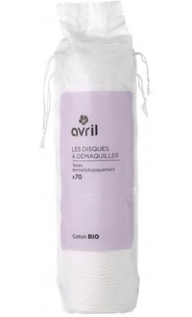 Avril Organic Odličovací vatové tampony z organické bavlny 70 ks