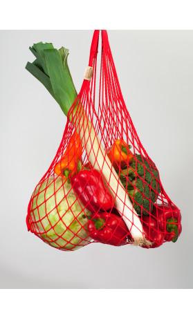 Česká síťovka Síťová taška bavlněná pružná - červená