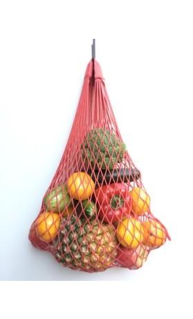 Česká síťovka Síťová taška bavlněná pružná - světle růžová