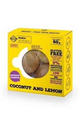 MaKe! Kokosovo-citronové bezlepkové sušenky