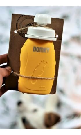 Domky Plnitelná silikonová kapsička na jídlo žlutá 180 ml