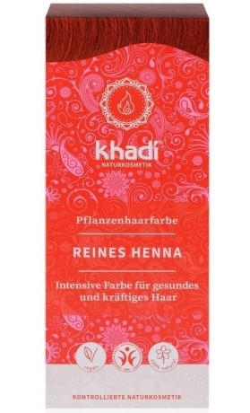 Khadi rostlinná barva na vlasy ČISTÁ HENNA (přírodní červená)