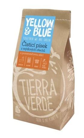 Yellow&Blue Čisticí písek z mýdlových ořechů s vůní pomeranče, sáček