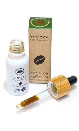 balmyou 100% čistý za studena lisovaný BIO kávový olej  Arabica, nerafinovaný