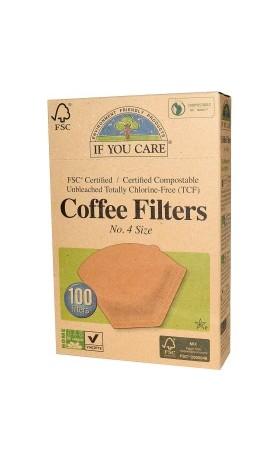 IF YOU CARE Kávové filtry velikost 4 100 filtrů v balení