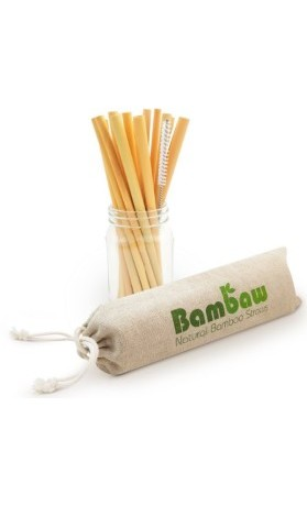 Bambaw Ekologická bambusová brčka v sadě 12 ks délka 22 cm