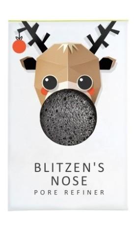 The Konjac Sponge Company Konjacová houbička MINI Blitzen's nose s bambusovým uhlím