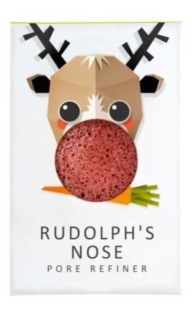 The Konjac Sponge Company Konjacová houbička MINI Rudolfův nos s červeným francouzským jílem