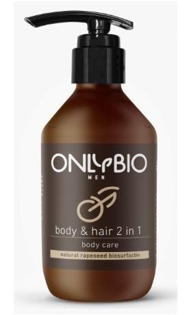 OnlyBio Pečující sprchový gel a šampon pro muže