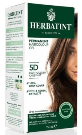 HERBATINT permanentní barva na vlasy zlatavý kaštan 5D