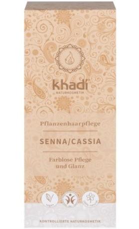 Khadi rostlinná barva na vlasy BEZBARVÁ SENNA/CASSIA (tzv. neutrální kúra)