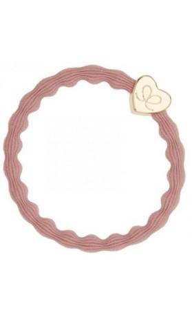 byEloise Gumička Gold Heart Champagne Pink