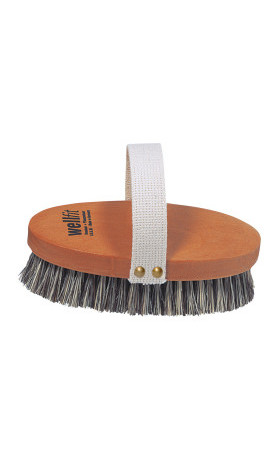 Wellfit Kartáček na masáž pokožky z bukového dřeva