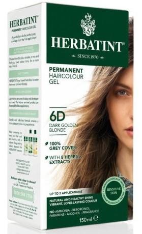 HERBATINT permanentní barva na vlasy tmavá zlatavá blond 6D