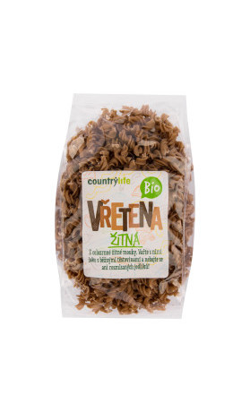 COUNTRYLIFE Těstoviny vřetena žitná 400g BIO