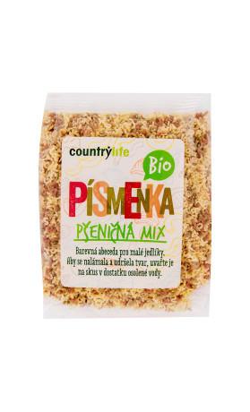 COUNTRYLIFE Těstoviny písmenka pšeničná mix 250g BIO