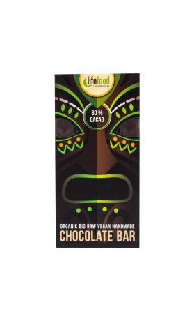 Čokoláda z nepraženého kakaa 80% 70 g BIO   LIFEFOOD