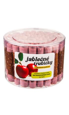 Trubičky jablečné s jahodovým jogurtem dóza 540g   B. PRODUKT