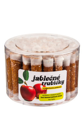 Trubičky jablečné s jogurtem dóza 450g   B. PRODUKT