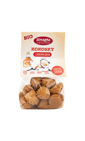Kokosky s javorovým sirupem 100 g BIO   ZEMANKA