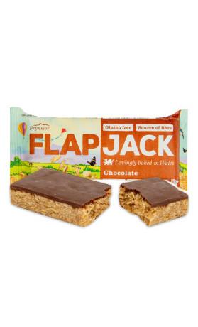 Flapjack ovesný s polevou s čokoládovou příchutí bezlepkový 80 g   WHOLEBAKE