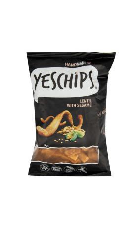 Chipsy čočkové se sezamem 80 g   YES CHIPS