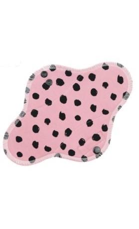 Anavy Denní látková vložka s PUL - Černé puntíky (růžová) 23 cm
