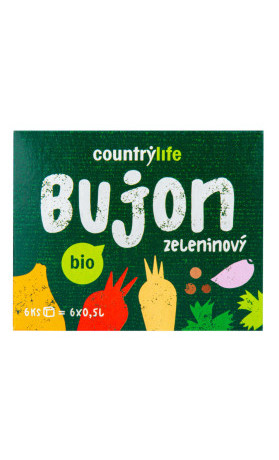 Bujon zeleninový kostky BIO COUNTRY LIFE