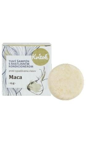Kvitok Přírodní tuhý šampon Maca proti vypadávaní vlasů