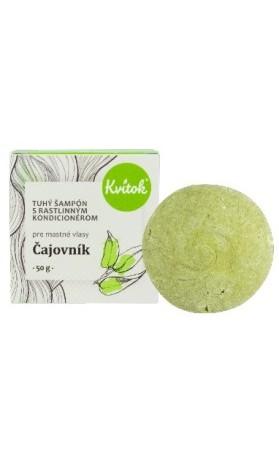 Kvitok Přírodní tuhý šampón Čajovník pro mastné vlasy XXL