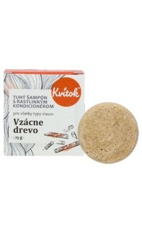 Kvitok Přírodní tuhý šampon s kondicionérem - Vzácné dřevo