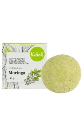 Kvitok Přírodní tuhý šampon s kondicionérem proti lupům - Moringa XXL
