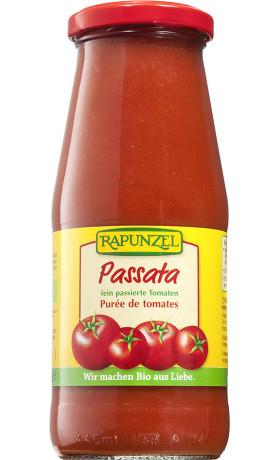 RAPUNZEL  Bio passata: drcená rajčata  410 g