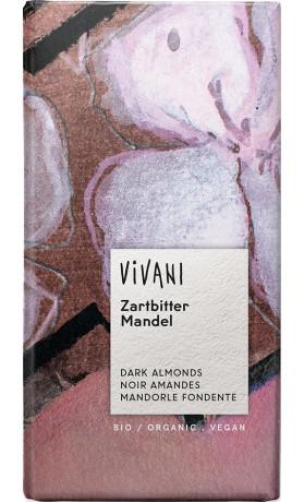 VIVANI  Bio hořká čokoláda s mandlemi