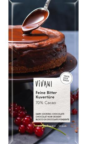 VIVANI Hořká čokoláda na vaření BIO