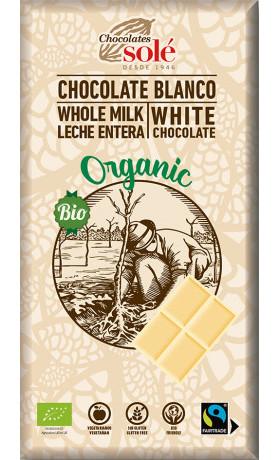SOLÉ  Bio bílá čokoláda